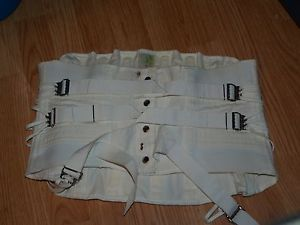 white buckel waist cincher