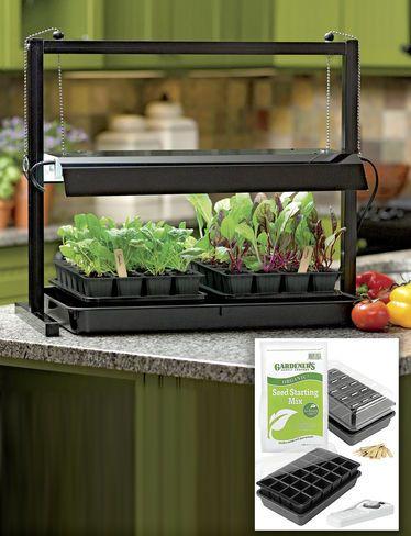 Small Table Top Grow Light With T5 Bulbs Gardeners Com