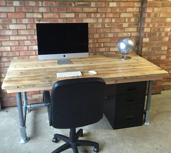 industrial office desk. Scaffold Plank Urban Industrial Office Desk And By Theoldwoodhut