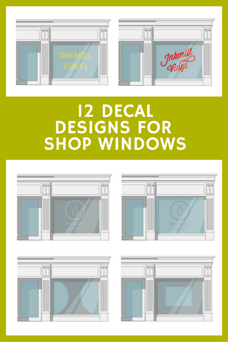 12 Easy Vinyl Decal Designs for shop windows that attract customers ...