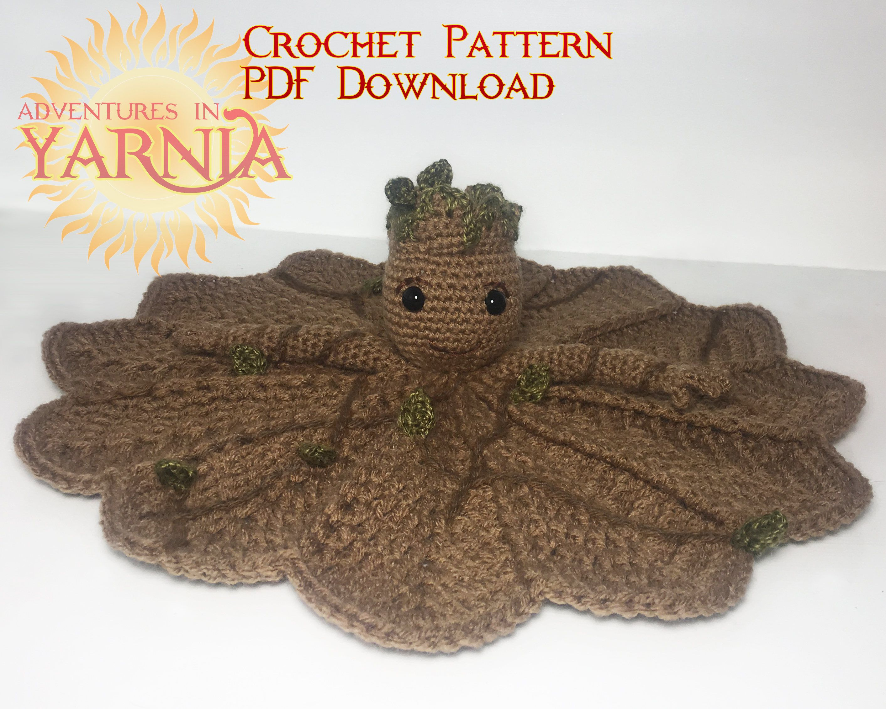 Free Crochet Pattern: Potted Baby Groot from Guardians of the ... | 2261x2826