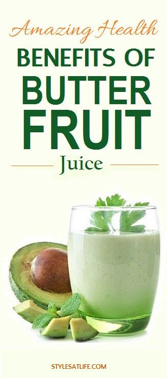 how to prepare butter fruit juice