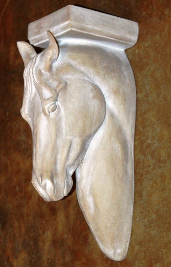 Sculpted Horse Head Corbel Wall Decor Large Marrita