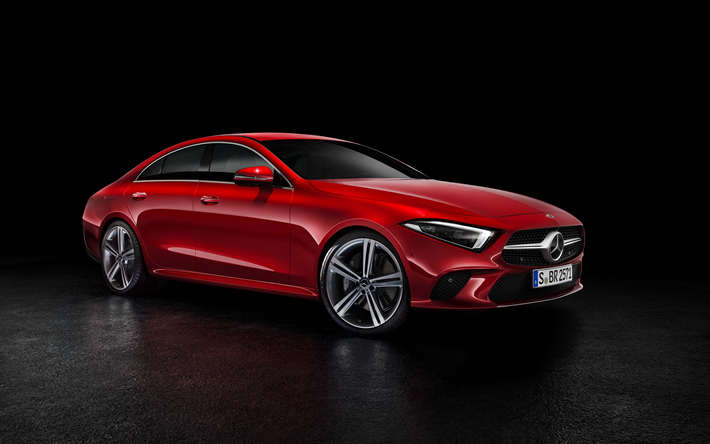 Download Wallpapers Mercedes Benz Cls Class 2019 Red Sports Sedan