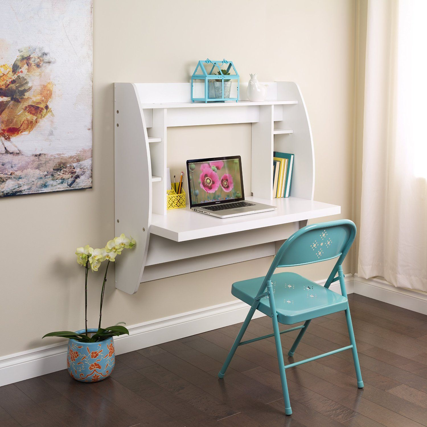 Floating puter Desk with Storage