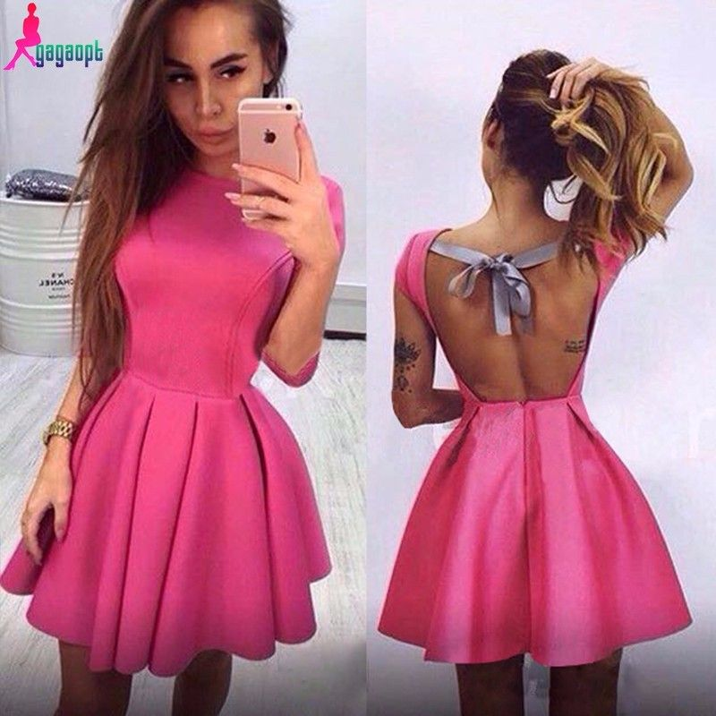 Gorgeous Pink Back Bow knot Design Dress | Party outfits | Pinterest ...
