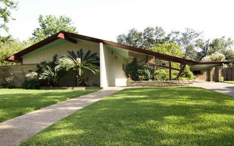 Houston Mid Century Modern Home Love The Redwood Beams And Light
