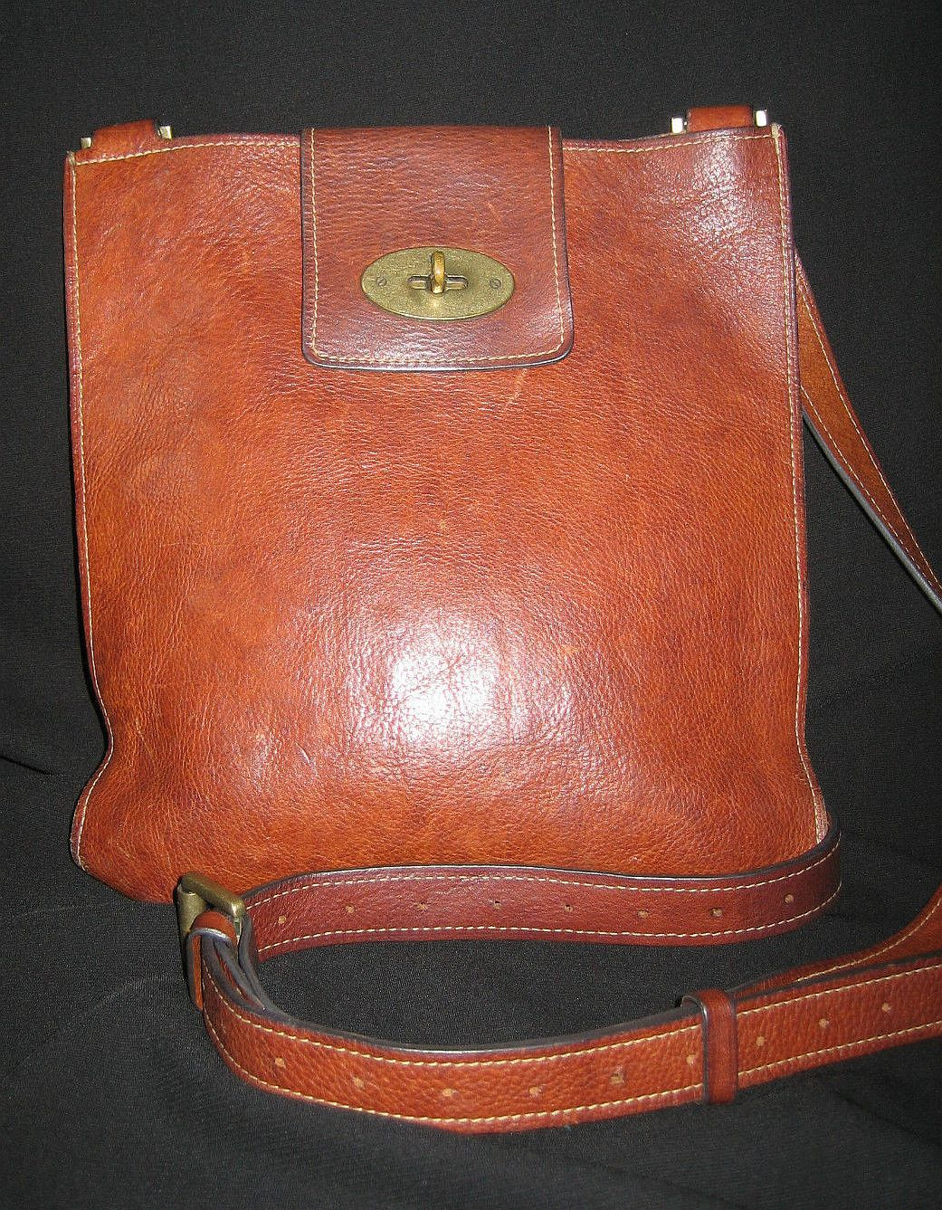 16551d59e4 Mulberry Messenger Bag (Men s Pre-owned Brown Leather Joel Saddle Shoulder  Bag)