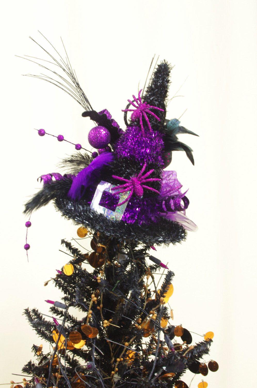 Halloween Tree Topper * Halloween Decoration * Purple and