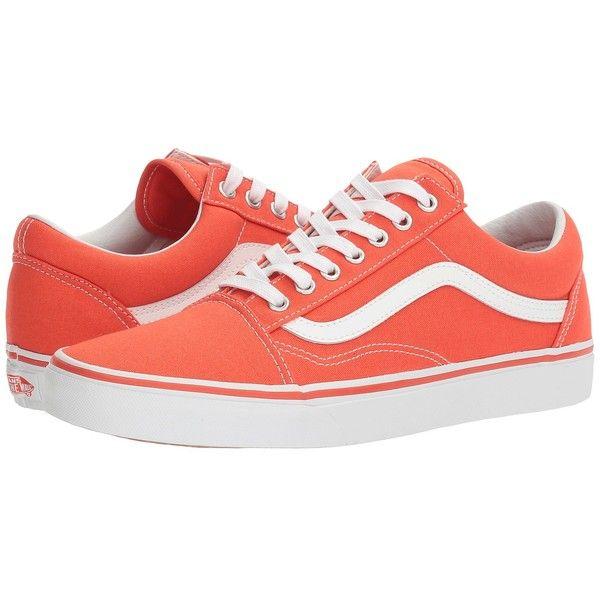9fe368dce41 Vans Old Skool ((Canvas) Cherry Tomato True White) Skate Shoes (€49 ...