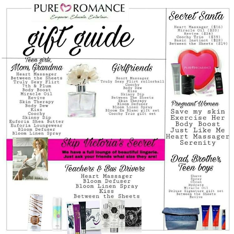Pure Romance Party, Party Fun, Pure Products