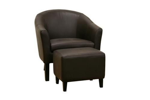 Cool Baxton Studio Tiptyn Dark Brown Leather Club Chair And Ncnpc Chair Design For Home Ncnpcorg