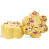 Bath Fizzies: Flower with Rose Petals Recipe from Wholesale Supplies Plus! #Handmade #BathFizzies #DIY