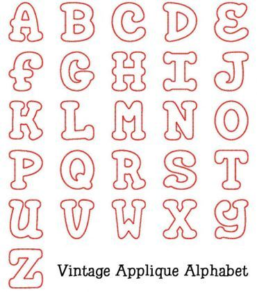 Embroidered Alphabet Letters Alphabets Vintage Applique Alphabet Embroidery