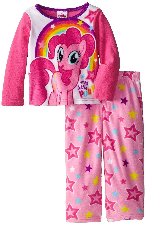 Girls Official My Little Pony White Pink Rainbow Short Sleeve Summer Pyjamas PJs