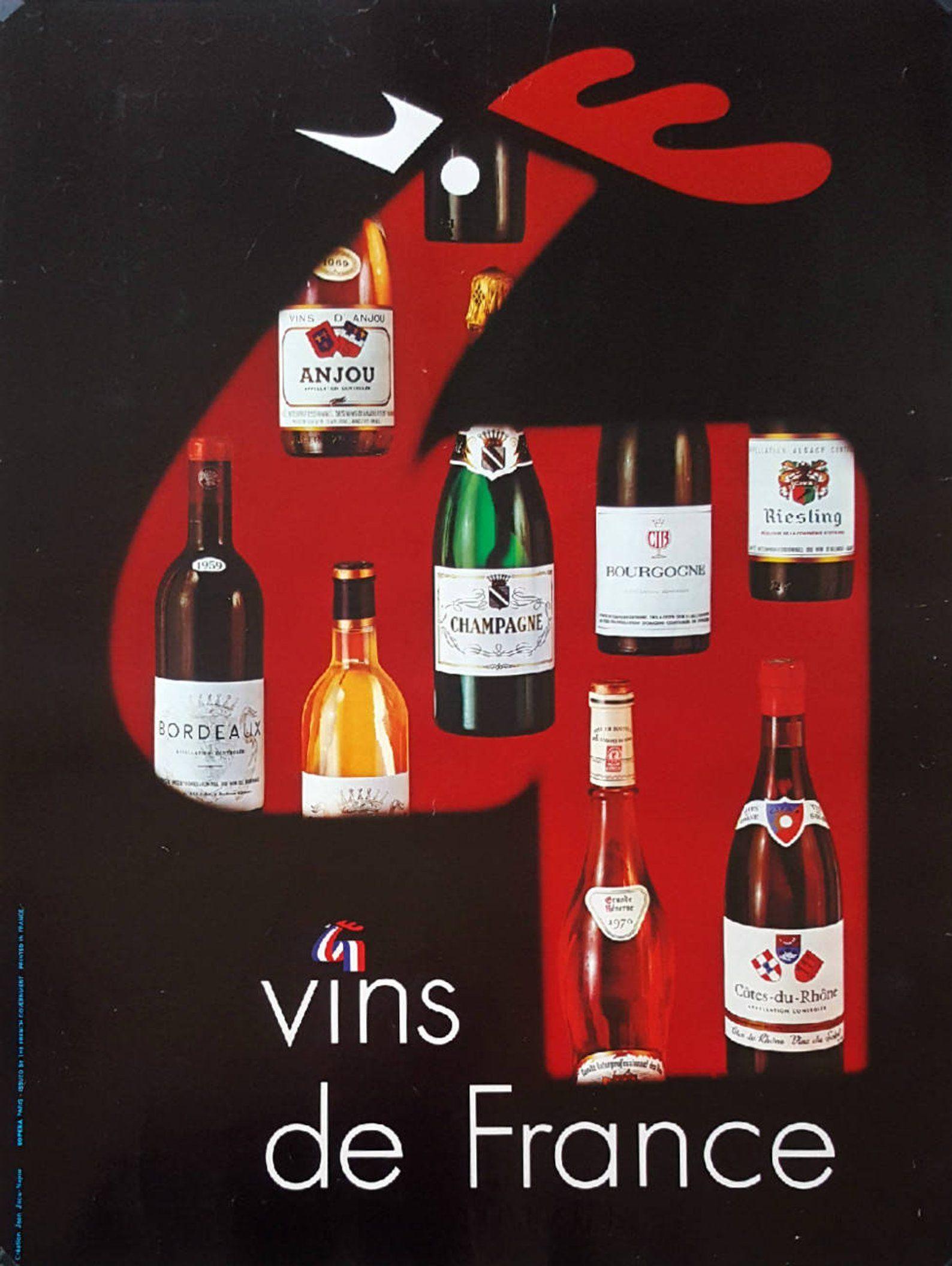 1970s French Wine Vins De France Advertisement Original 1970s French Wine Vins De France Advertisement Original Vinta In 2020 French Wine France Wine Wine