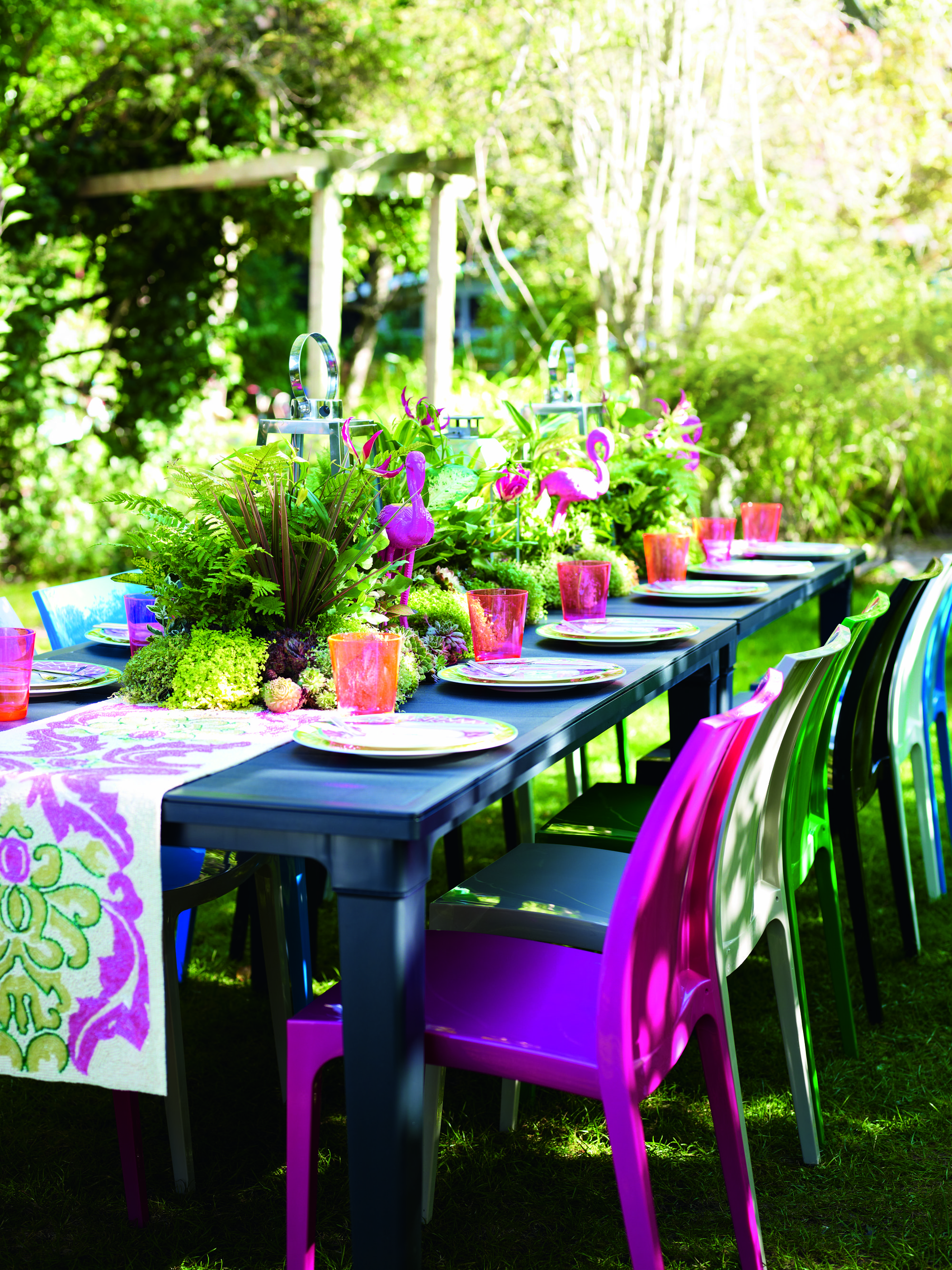Decorate your garden with love, fill bright colours and florescent ...