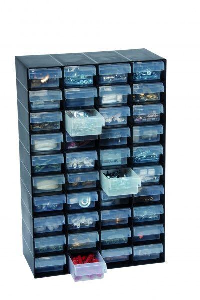 40 Multi Drawer Plastic Storage Cabinet For Home Garage Or Shed 11