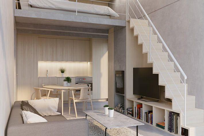 Inredningsförslag till det modernistiska attefallshuset