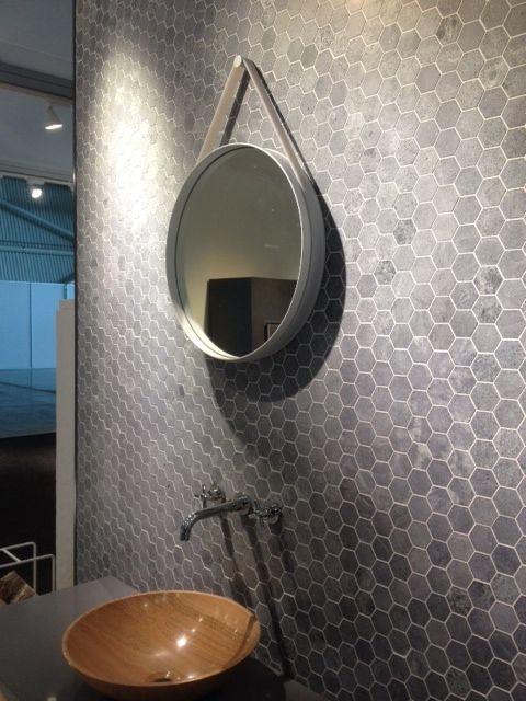 #new #soapstone #tile #tulikivi #interior #design #bathroom #naturalstone #stone #spa