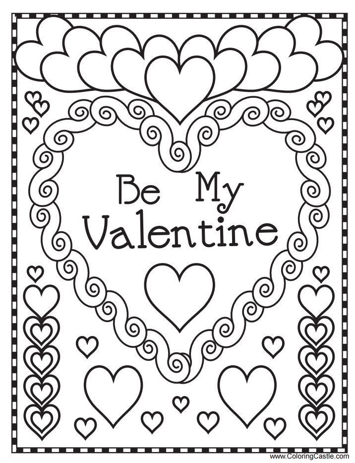 Print 1 | Valentine Coloring Pages | Pinterest | Free printable ...