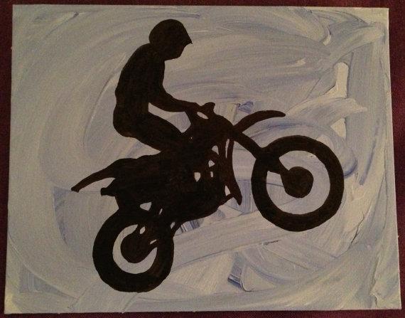 silhouette art motocross silhouette