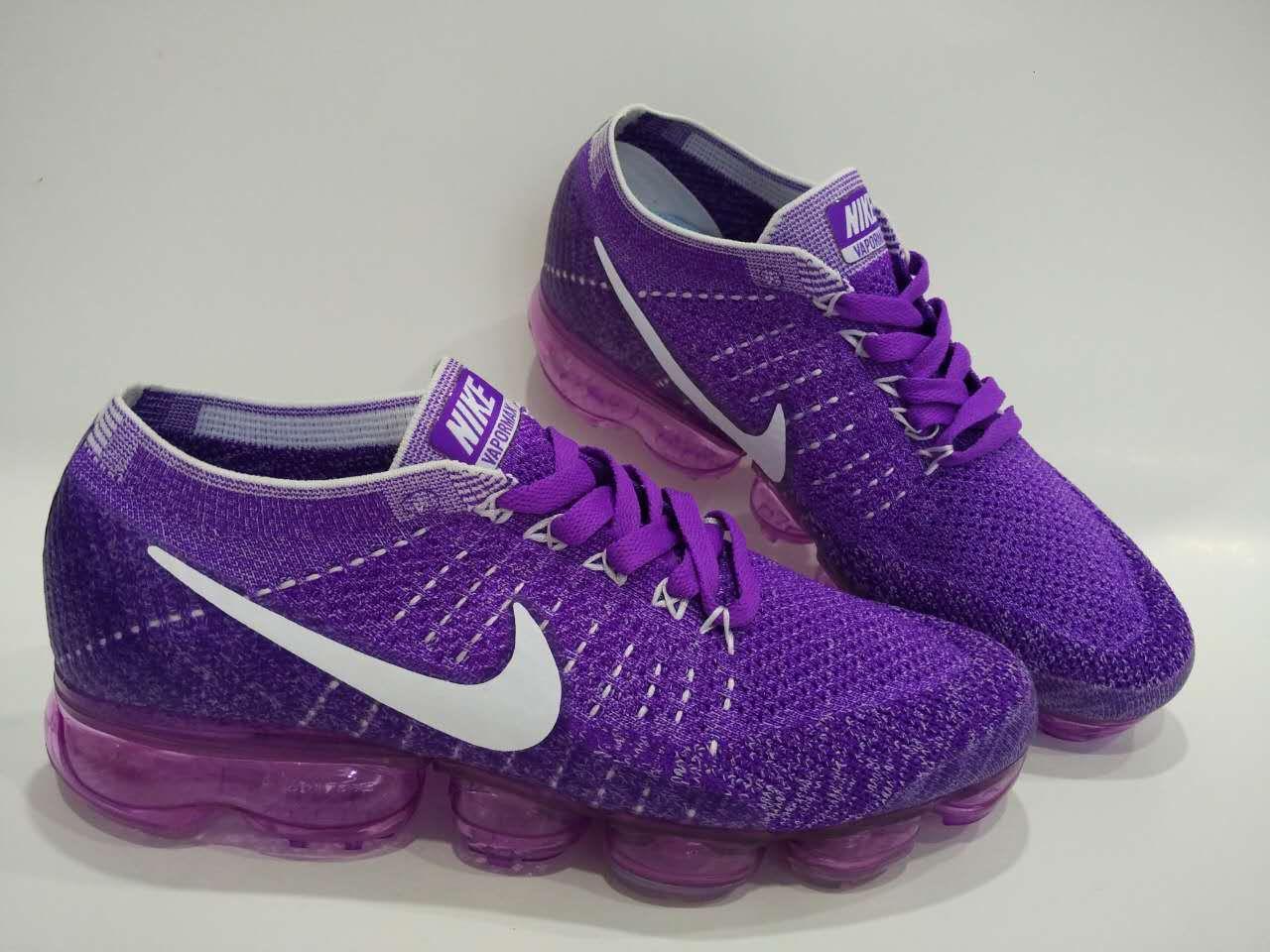 0a43ca764856 Women Nike Air Vapormax Flyknit Purple White