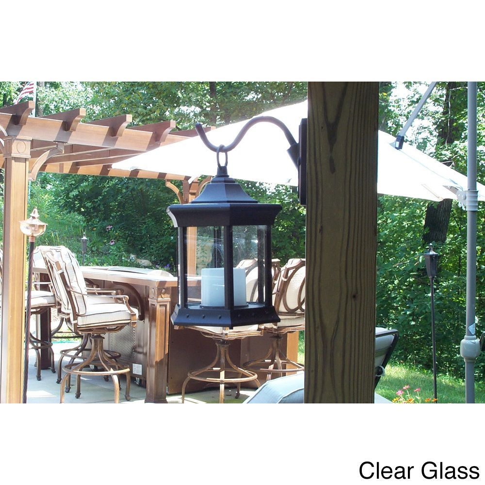 This Solar Lantern Sconce Creates A Safe Ambient Candlelight Wiring Patio Light Illumination That Requires No For Enjoyment Around Pergola Deck Gazebo Or