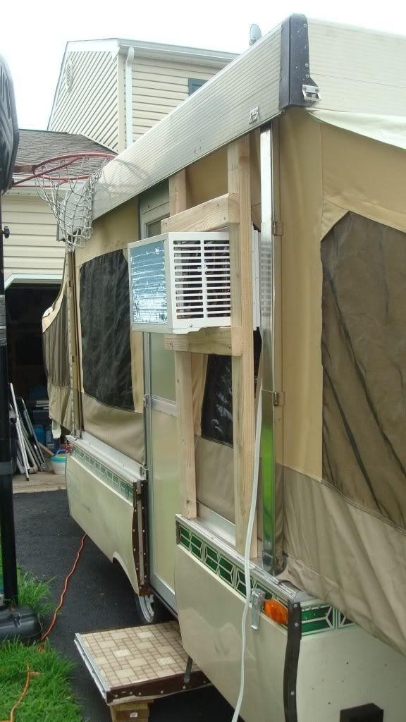 Window A C Unit For A Popup Camping Ideas Camper Hacks