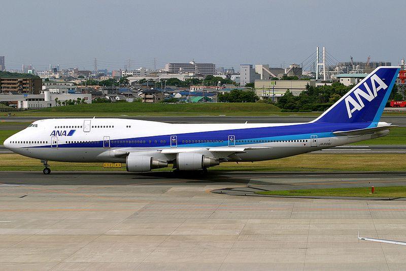 All Nippon Airways, Boeing 747-400D, JA8961, Osaka Itami