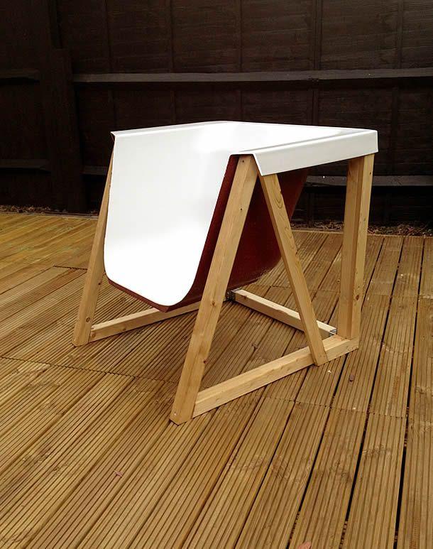 Una silla a partir de una bañera Sillas, Bañera y Sillones reciclados - sillas de playa