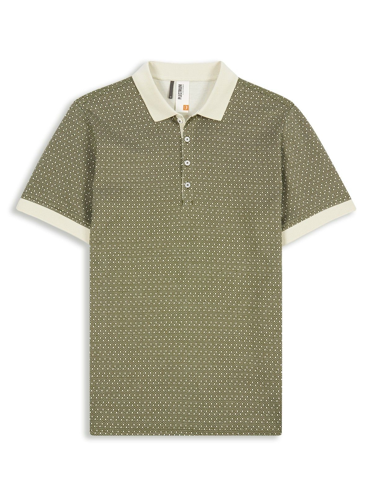 Diamond Jacquard Polo Egret Ben Sherman Picking Up Men