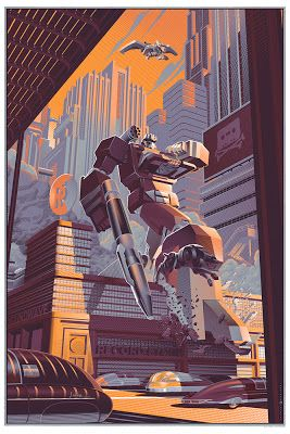 "Wizard World Philadelphia Comic Con 2013 Exclusive Transformers ""Soundwave"" Variant Screen Print by Laurent Durieux"