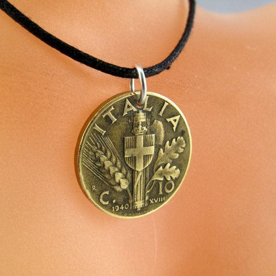Necklace Italy Coin Jewelry Pendant