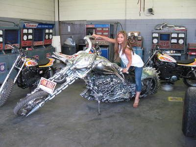 "24/"" x 36/"" Poster SPIDER WEBS CHOPPER Hot Rod Custom Bike Motorcycle"