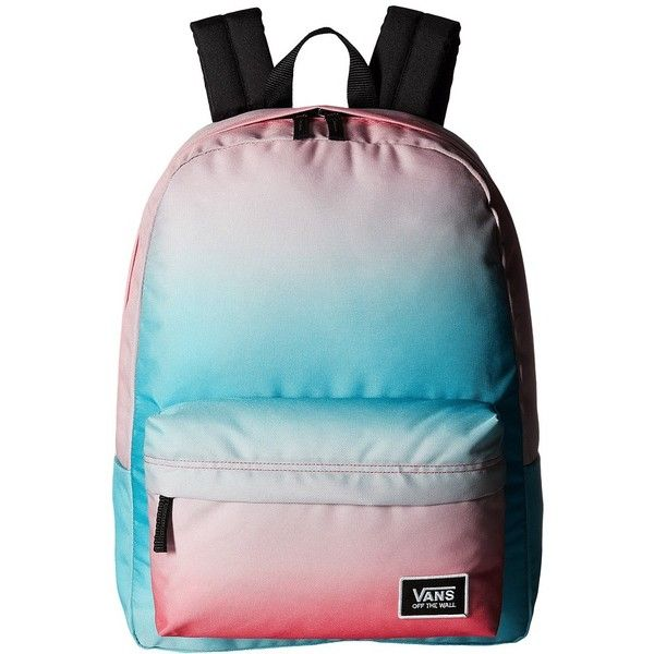 a2259ab0409f Vans Realm Classic Backpack (Geranium Pink Gradient) Backpack Bags ( 38) ❤  liked on Polyvore featuring bags
