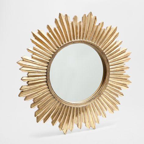 kunstharzspiegel mit sonne spiegel dekoration zara home schweiz schlafzimmer spiegel. Black Bedroom Furniture Sets. Home Design Ideas