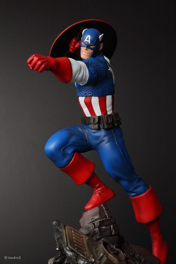 Captain America Action | Statue | Bowen Designs