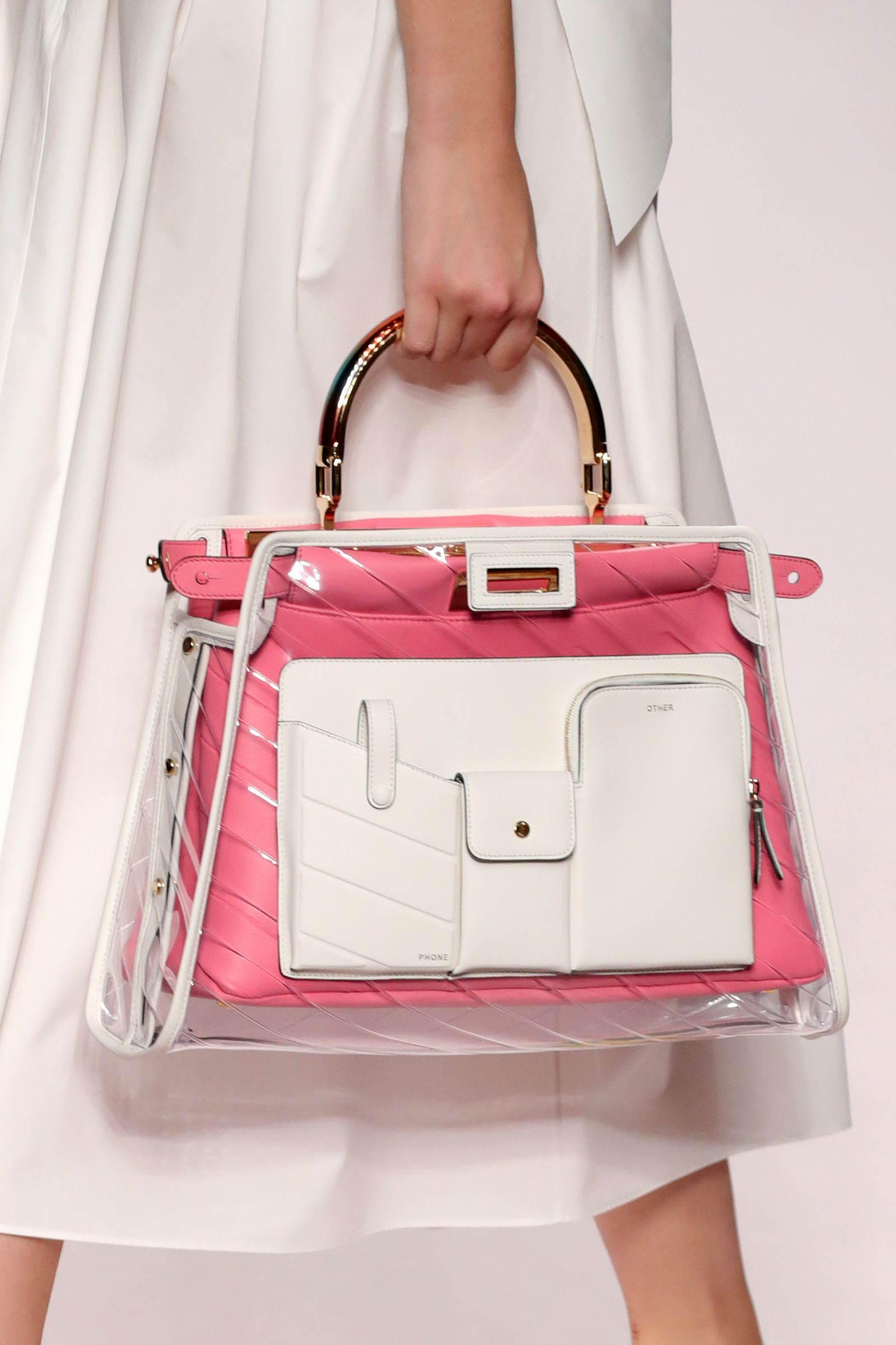 0df02335f1d Fendi Italy Fashion, Karl Lagerfeld, Clear Bags, Bags 2018, Leather Bags  Handmade