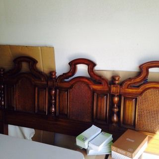Thomasville King Size Headboard. Great condition! Would look fun and fabulous painted Apple Green, White, Purple etc. I hate to see it go. http://link.close5.com/m/NHuw6A4f9l