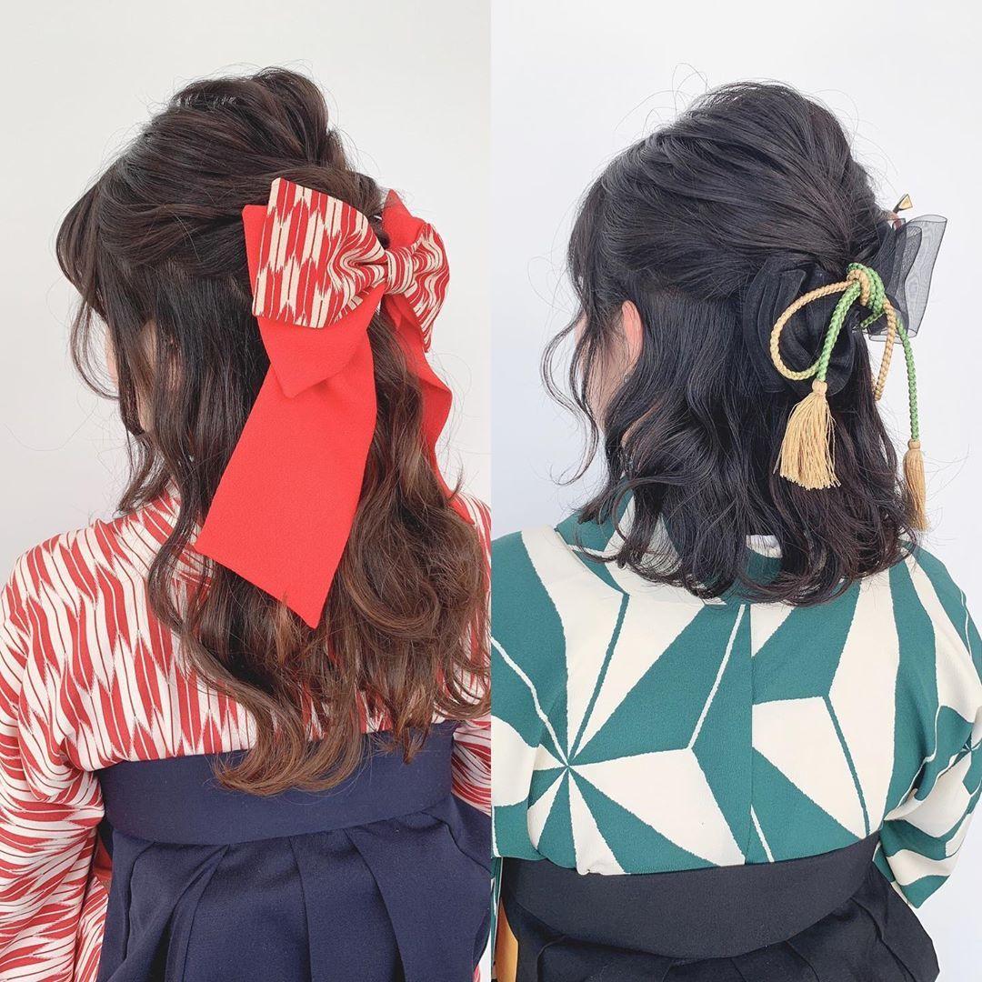 自由が丘美容師 ヘアアレンジ 古田愛 On Instagram 卒業式のご予約お待ちしております ヘアセット 袴など着物着付け メイク 全てオブヘアーにお任せください 袴の時はハーフアップ リボンが人気でした ーーーーーーーーーーーーーーーーーーーーーーーー