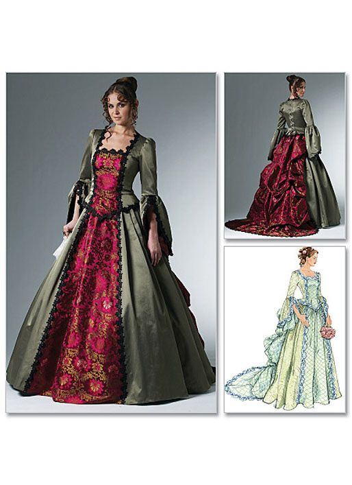 McCalls Schnittmuster M6097/AA Viktorianisches Kleid, Größe AA (32 ...