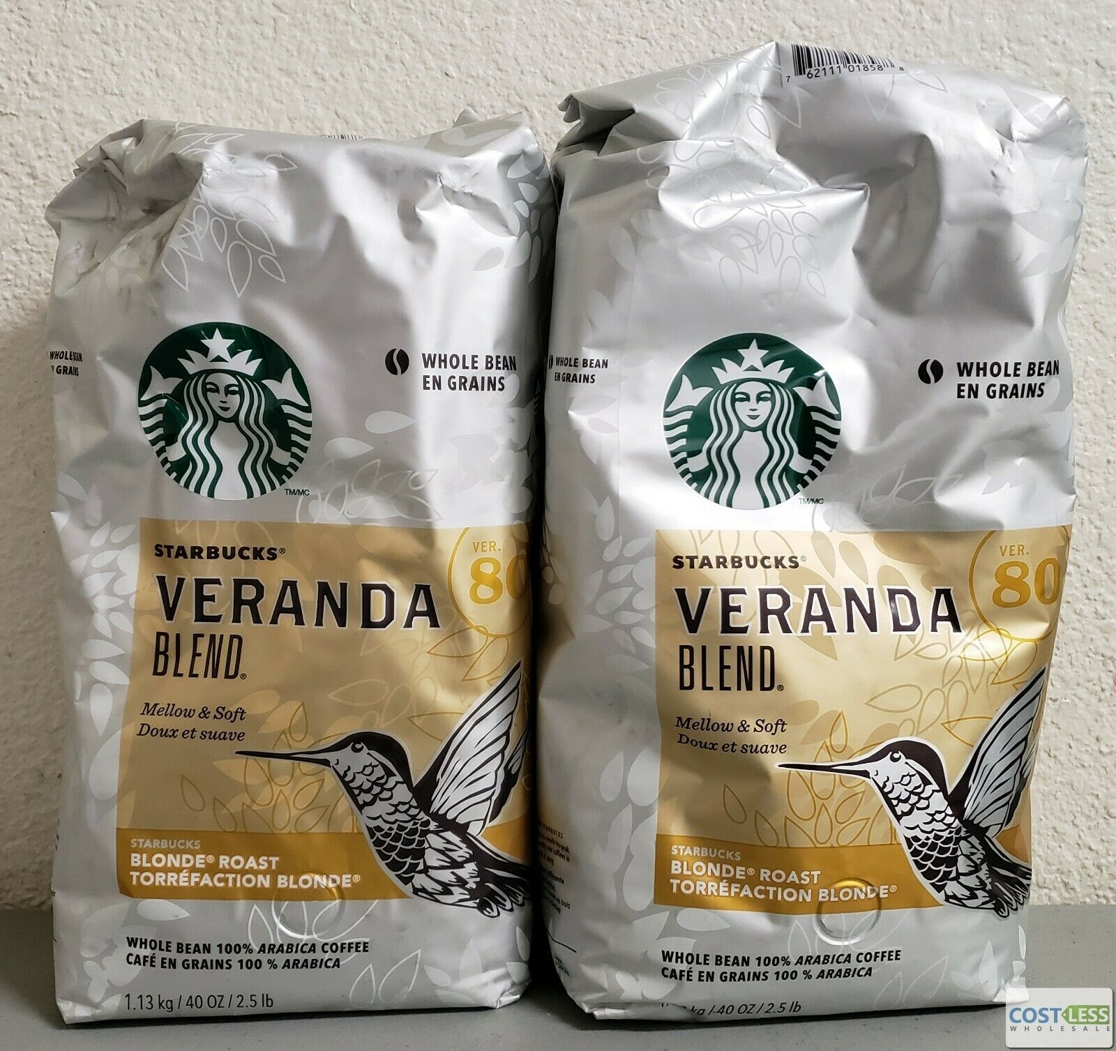 Starbucks Veranda Blend Blonde Roast Whole Bean Coffee 40
