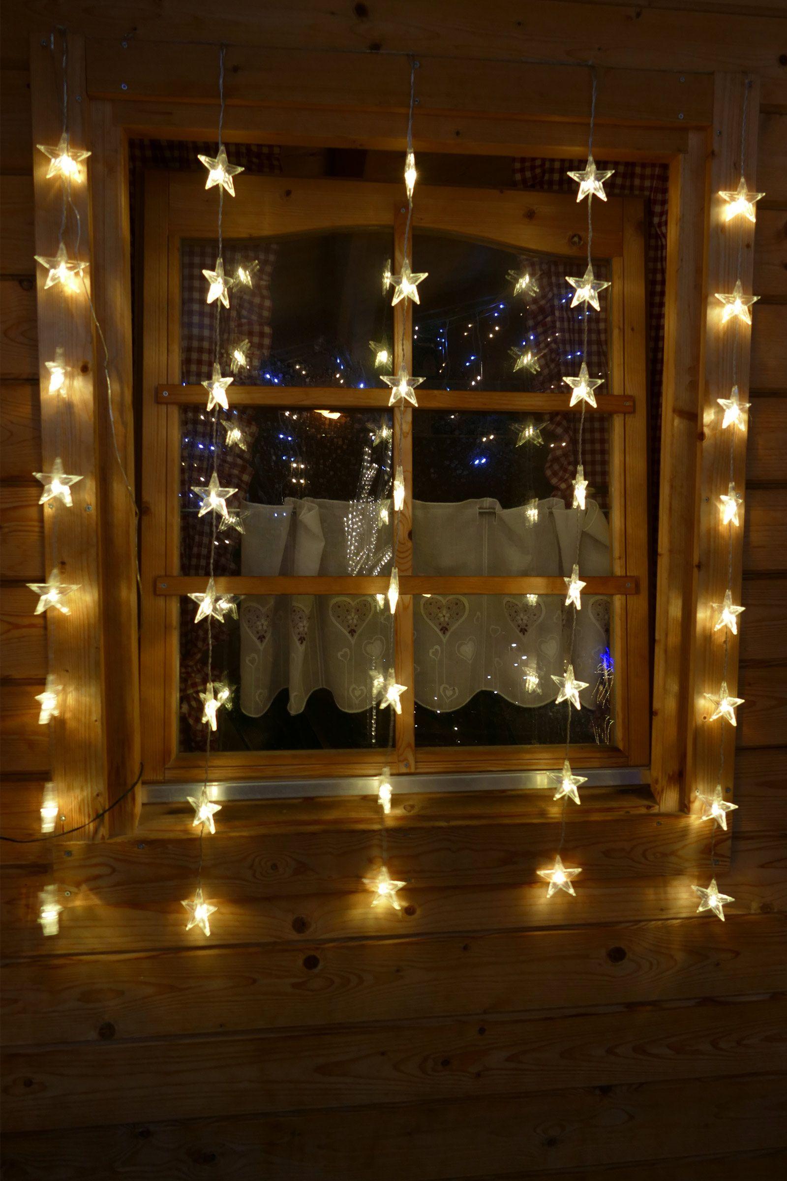 Lichtervorhang Sterne Lichterkette Fur Fenster Zur Deko