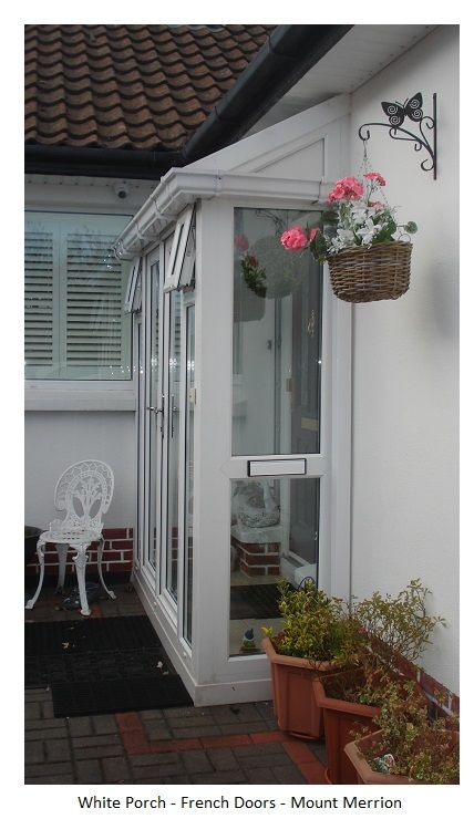 Porch With French Doors And Lean To Roof Fabulous Addition To Any