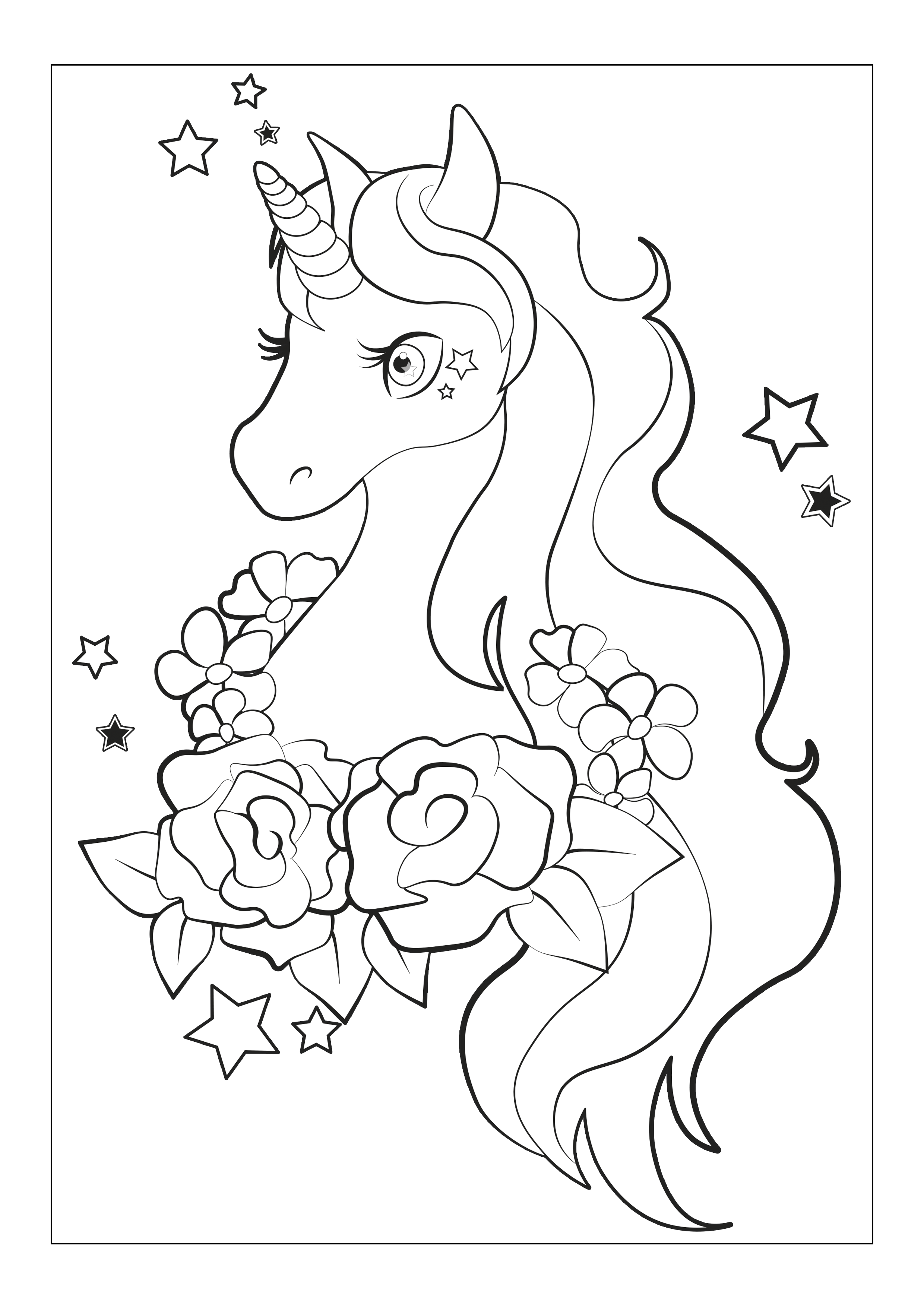 Cute Unicorn Face Coloring Pages Colouring Mermaid In 2020 Unicorn Coloring Pages Coloring Pages For Girls Mermaid Coloring Pages