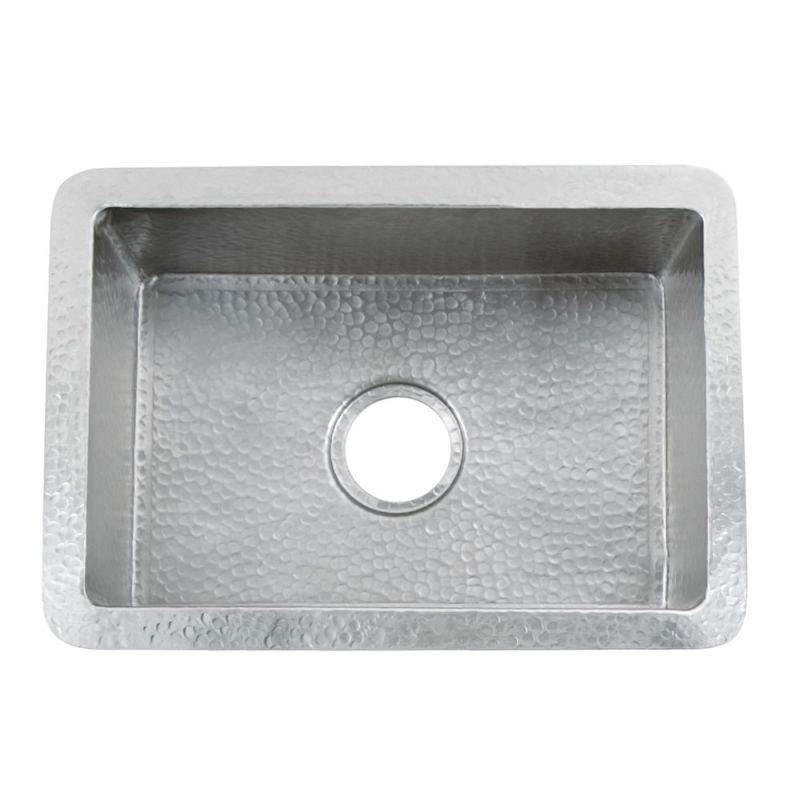 "Native Trails CPK78 Cocina 21-1/2"" Single Basin   Hammered Copper Kitchen Brushed Nickel Fixture Kitchen Sink Copper"