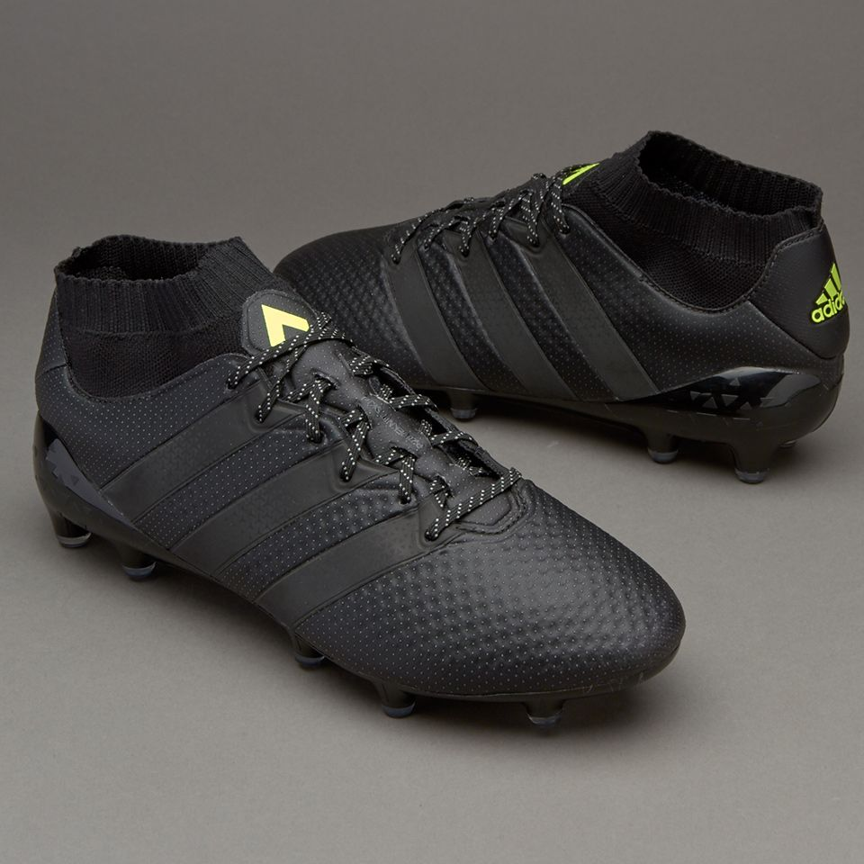 new product fb9fa dc35e adidas ACE 16.1 Primeknit FG/AG - Core Black/Solar Yellow ...