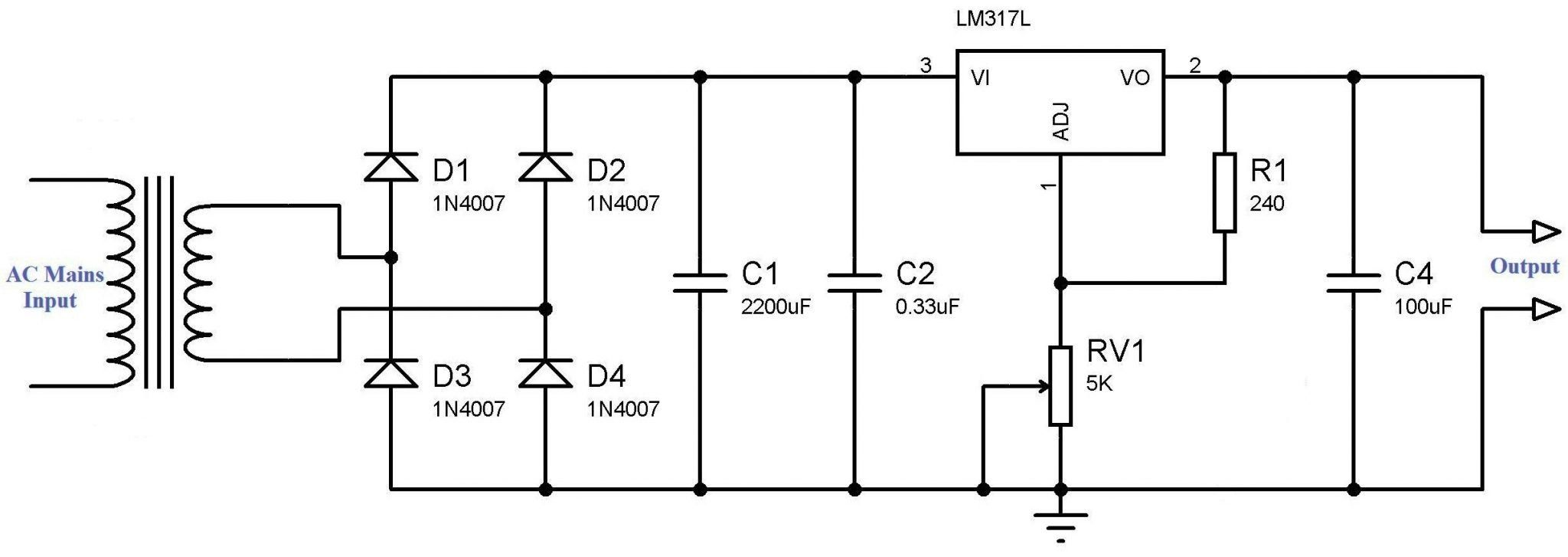 How to Make Variable Power Supply Circuit With Digital ...