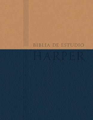 Biblia de Estudio Harper RVR 1960, Piel Imitada a Dos Tonos (RVR 1960 Harper Study Bible, Two-Tone Imit. Leather)